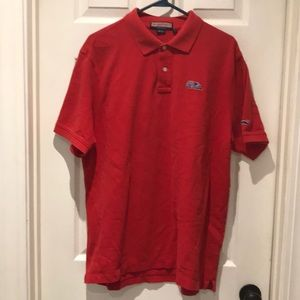Vineyard Vines Ole Miss MS red polo SZ Large